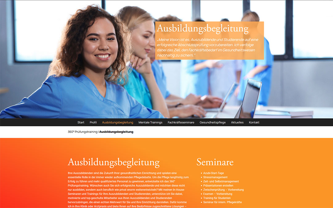 360Grad Prüfungstraining Website