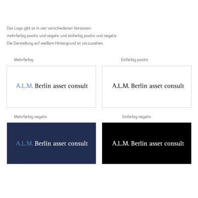 ALM Entwicklung von Corporate Design und Logo