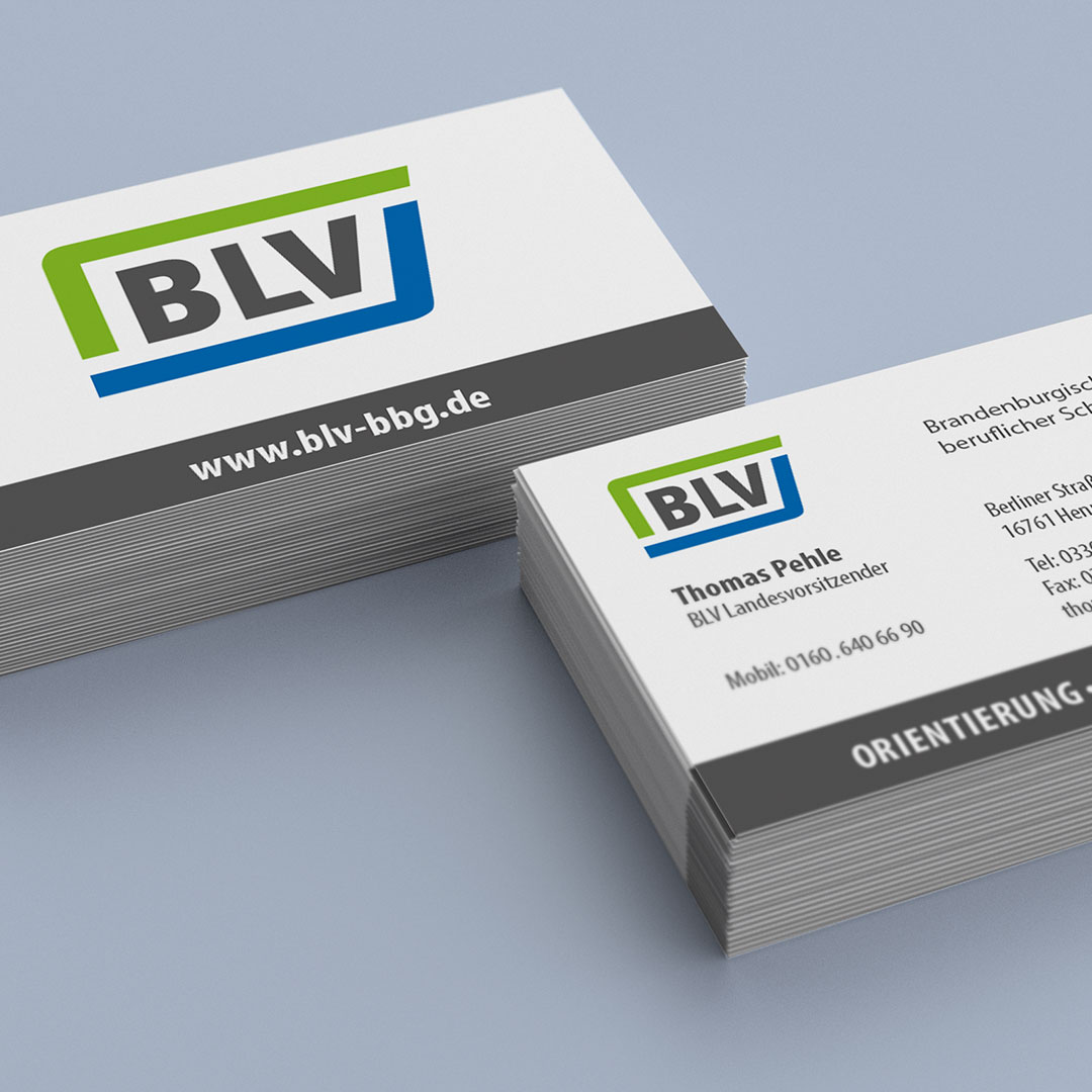 BLV Corporate Design Visitenkarten