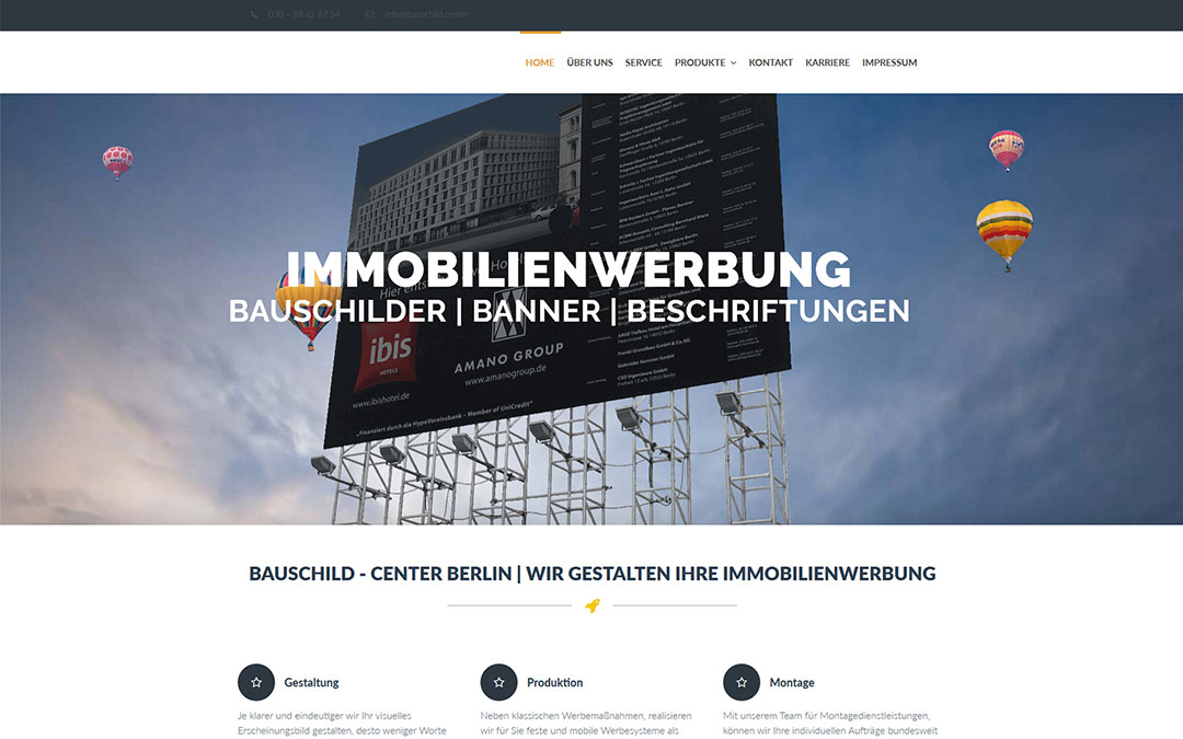 Bauschildcenter Website