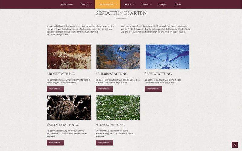 Bestattungshaus Döhnert Website