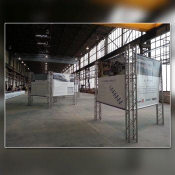 Bombardier Ausstellung Banner