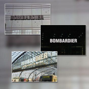 Bombardier Leuchtbuchstaben