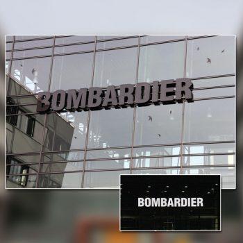 Bombardier Profilbuchstaben beleuchtet