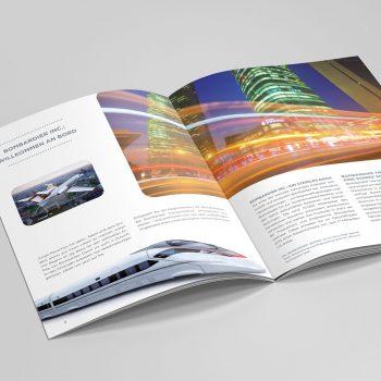 Bombardier Transportation Objektgestaltung und Drucksachen