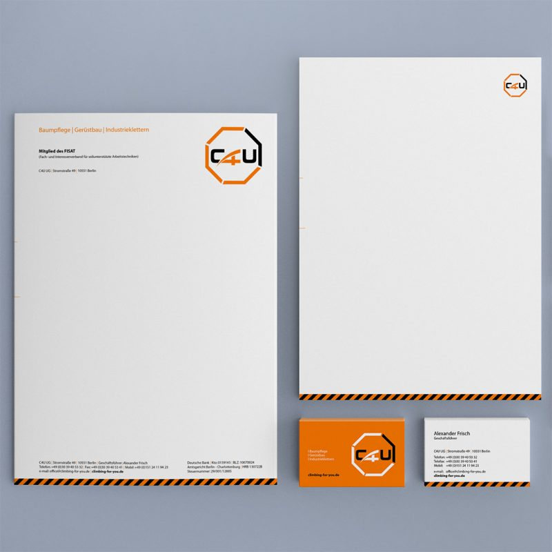 C4U Corporate Design Printmedien