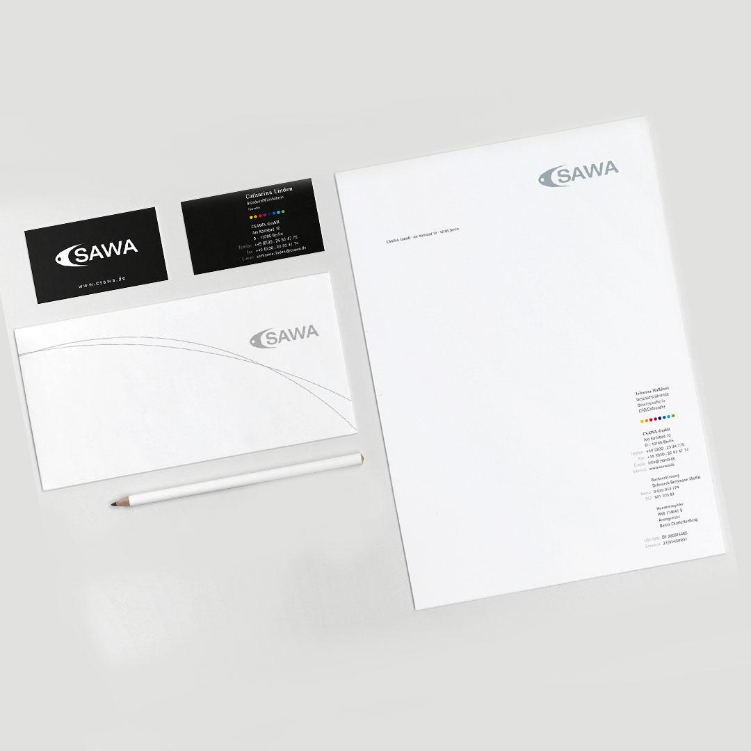 CSAWA Corporate Design Geschäftsausstattung