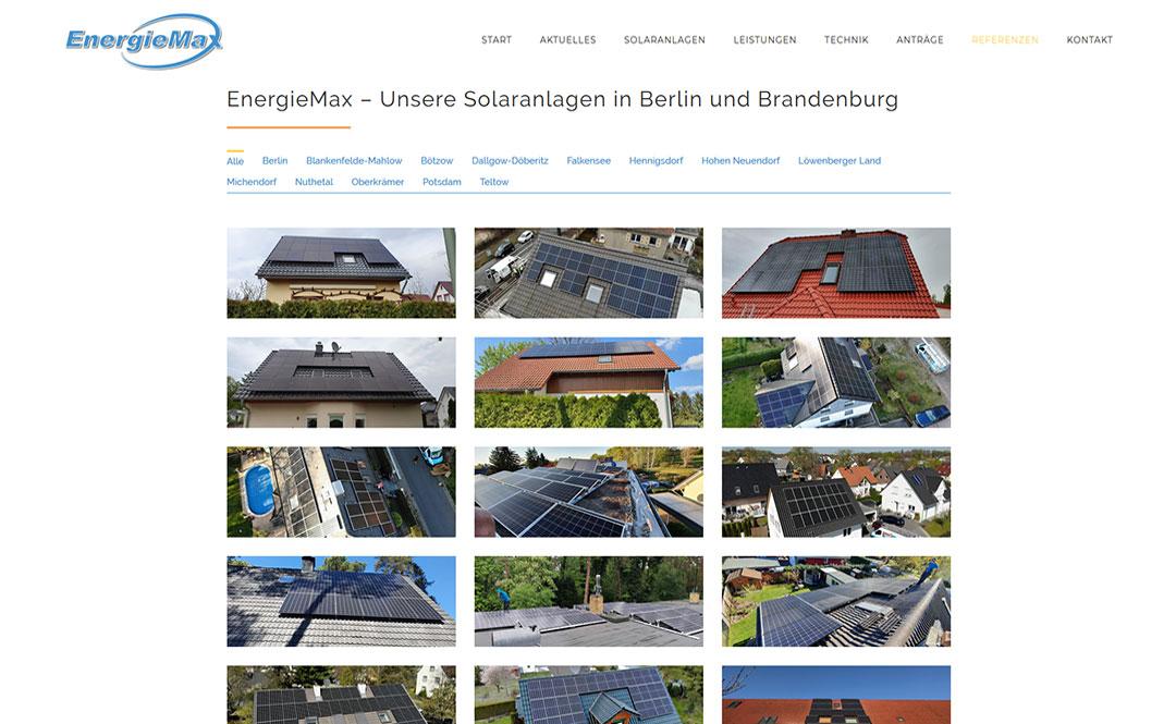 EnergieMax Berlin Website Redesign