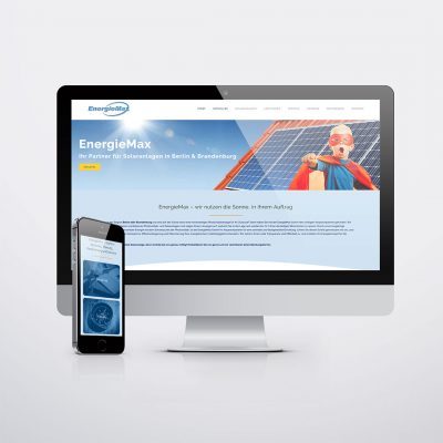 EnergieMax Berlin Website Redesign