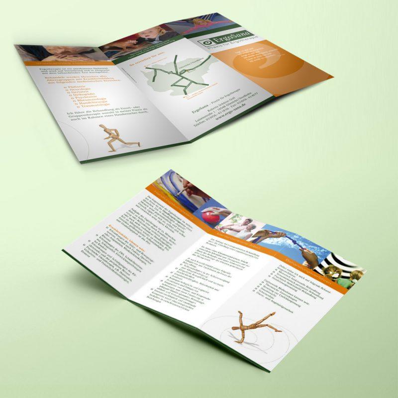 ErgoSana Drucksachen Broschüre