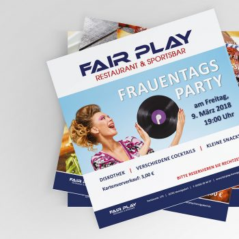 Fair Play Clubhaus Printkampagne