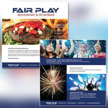Fair Play Clubhaus Printkampagne Plakate