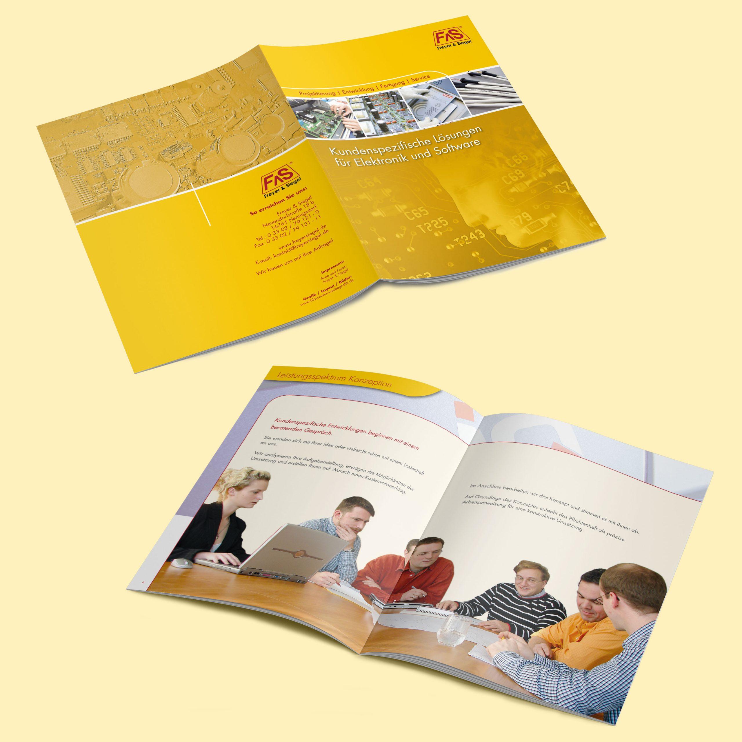 Freyer Siegel Corporate Design Broschüre