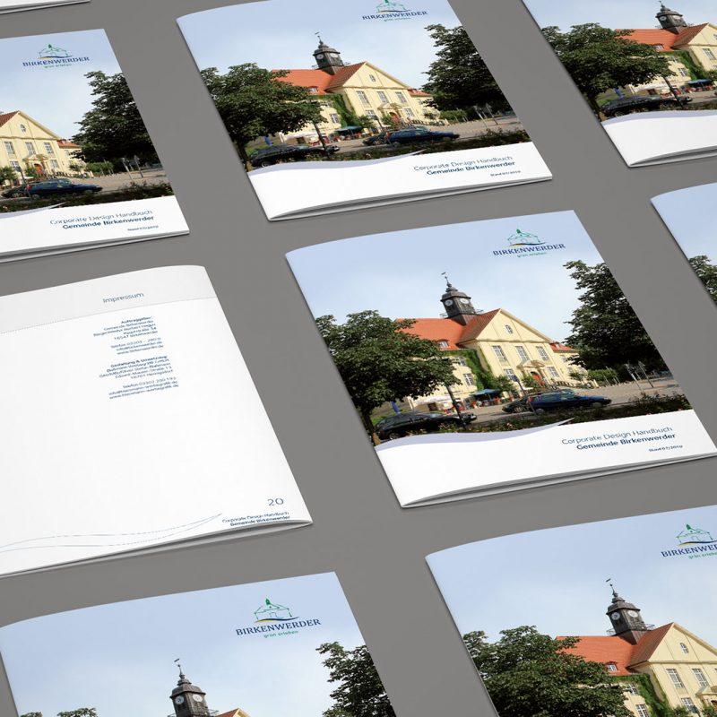 Gemeindeverwaltung Birkenwerder Corporate Design