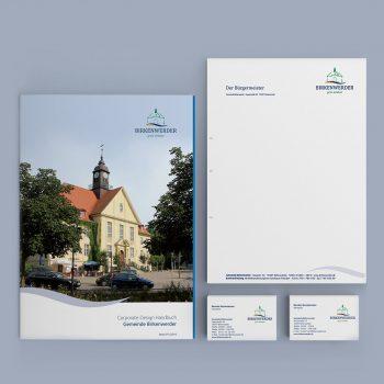 Gemeindeverwaltung Birkenwerder Corporate Design Geschäftsausstattung