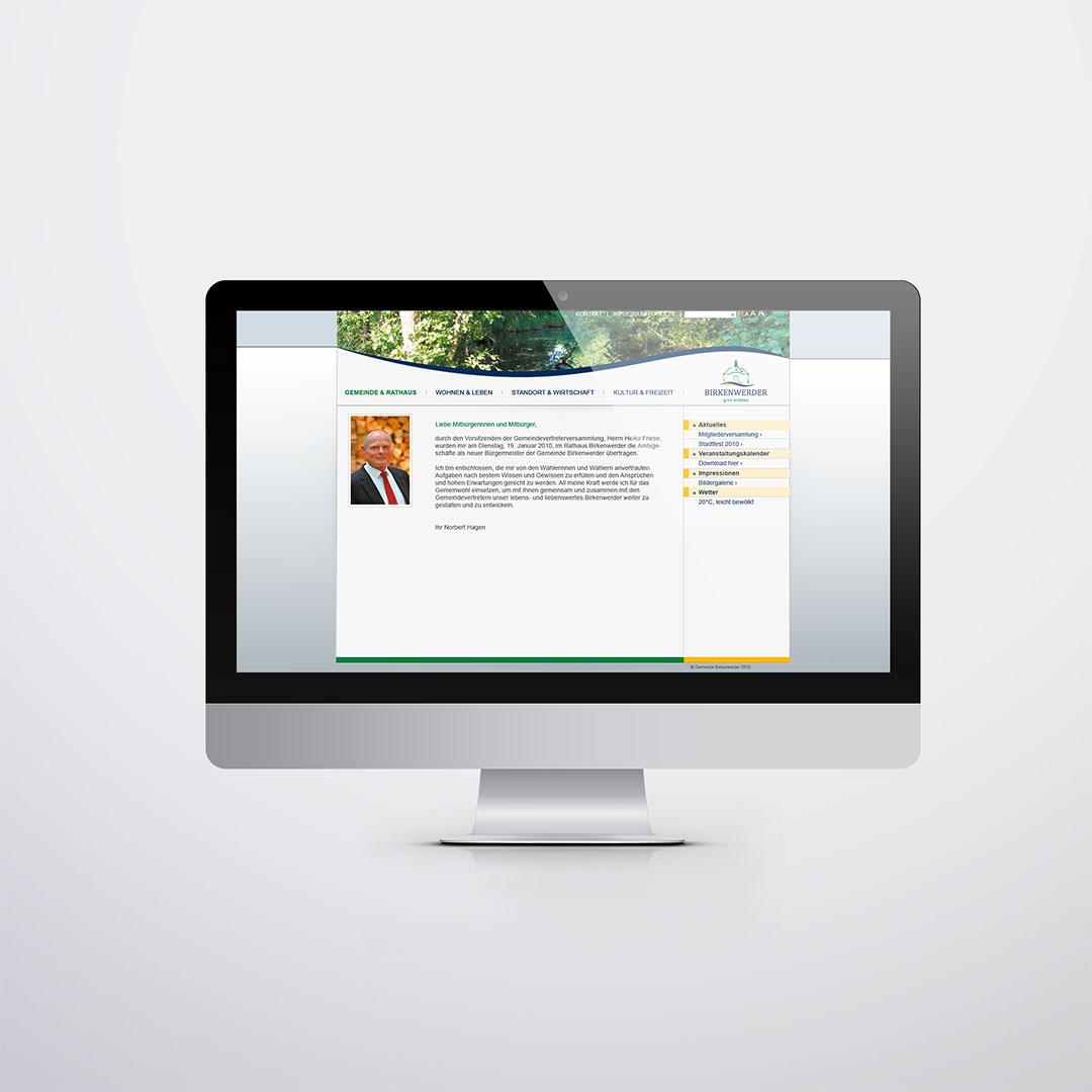 Gemeindeverwaltung Birkenwerder Website
