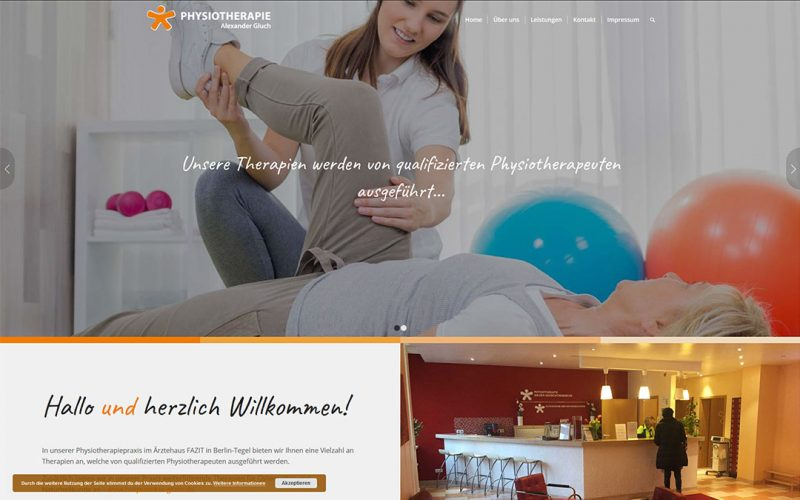 Gluch Physiotherapie Website