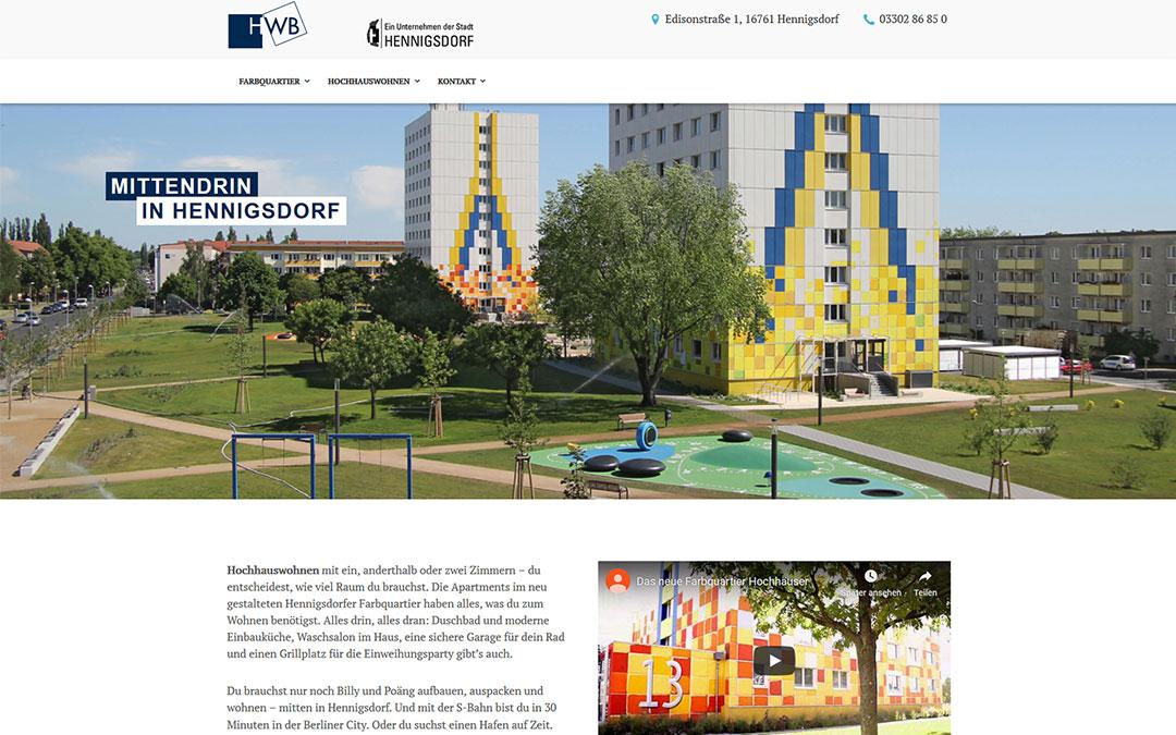 HWB Hochhauswohnen Website