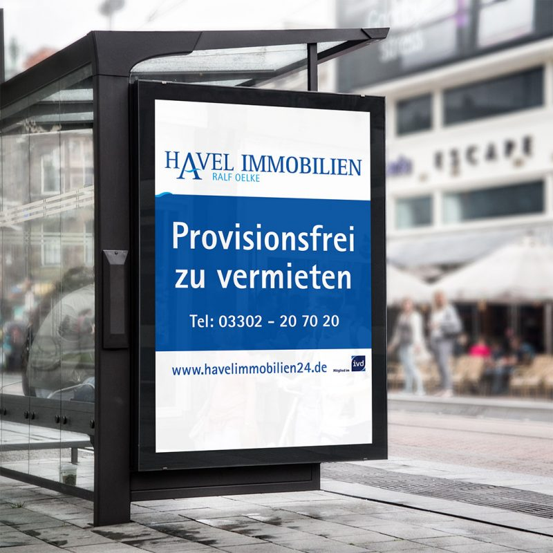 Havel Immobilien Plakat