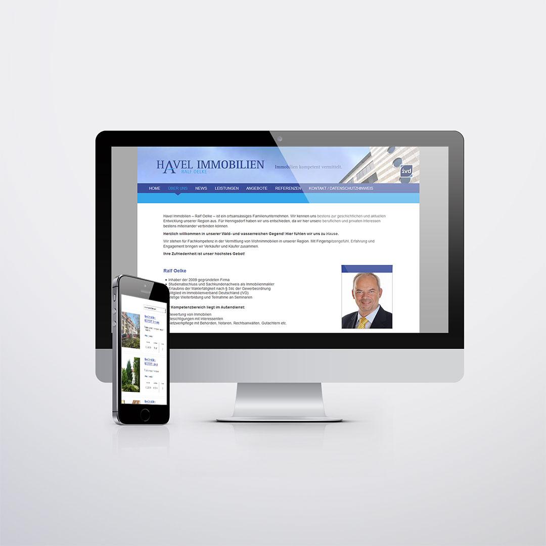 Havel Immobilien Website