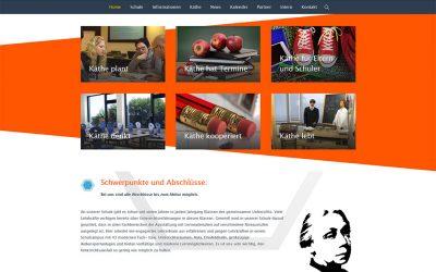 Käthe-Kollwitz-Gesamtschule Mühlenbeck Website Redesign