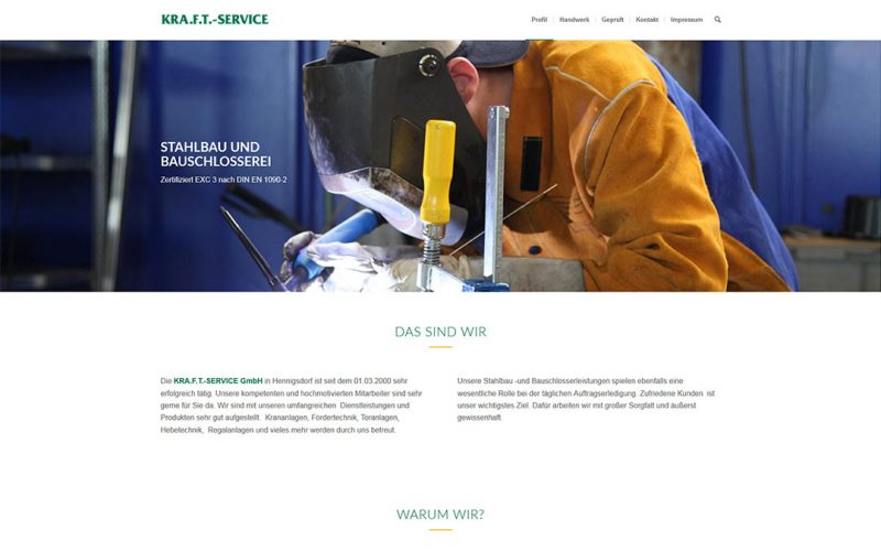 Kraft Service Website