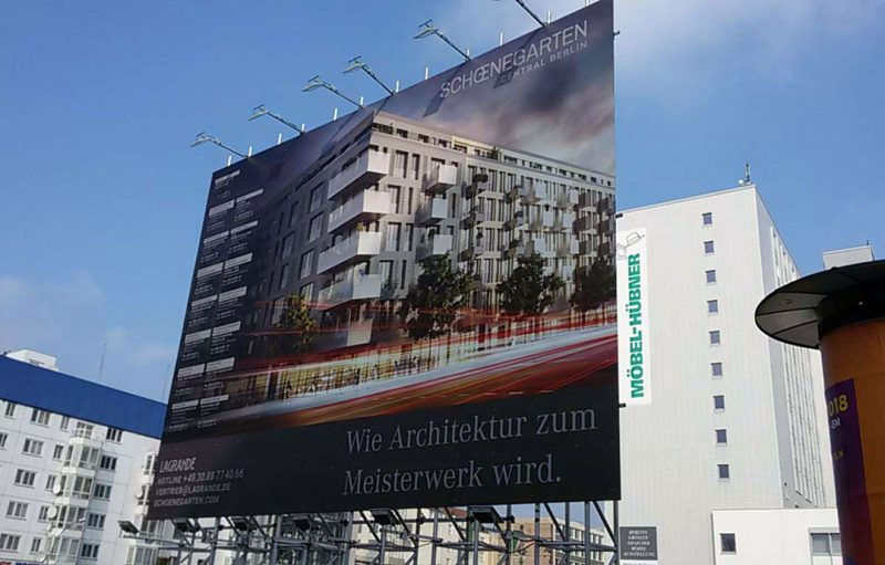 Lagrande Projekt Schönegarten Bauschild