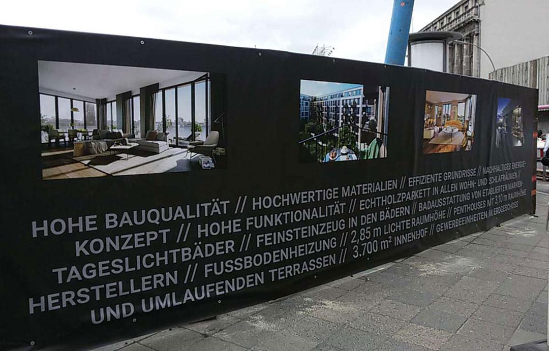 Lagrande Projekt Schönegarten Bauzaunbanner