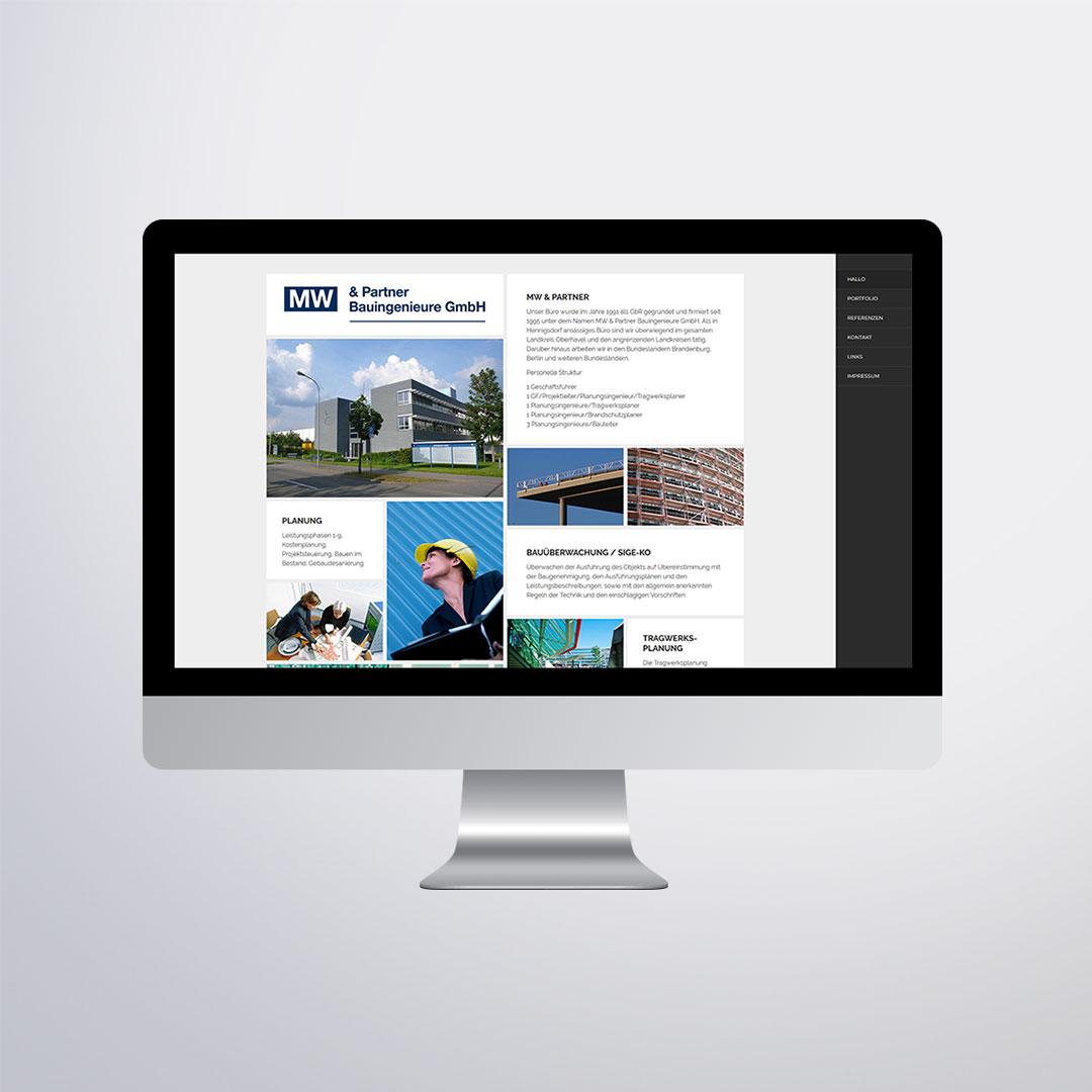 MW & Partner Bauingenieure Website