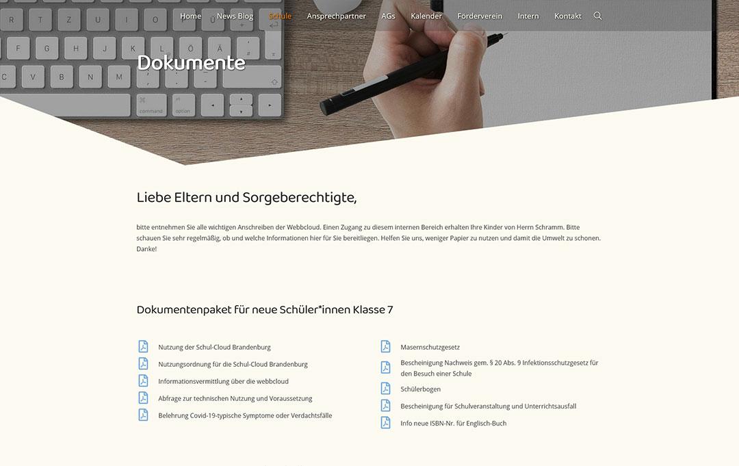 Oberschule Lehnitz Website