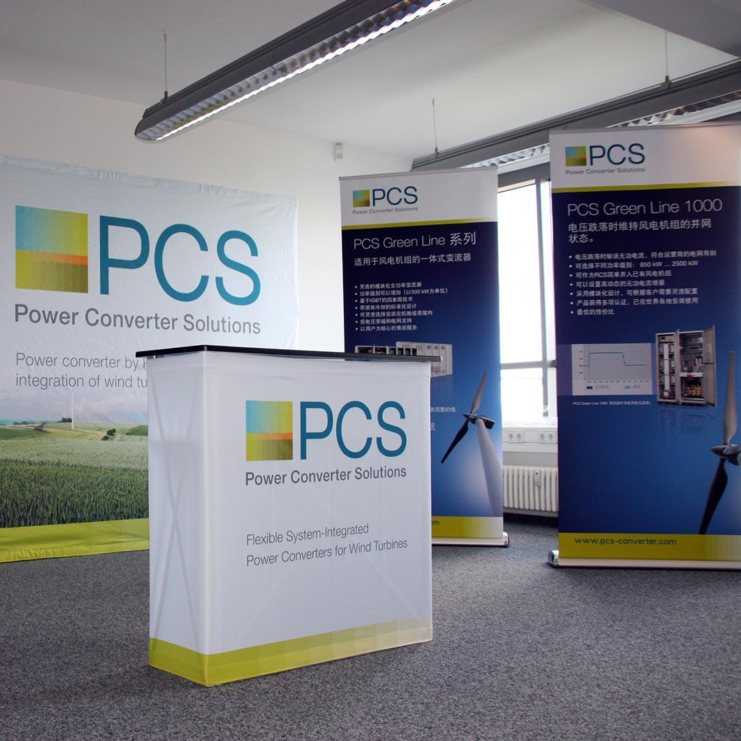 PCS Werbesystem Rollup und Counter