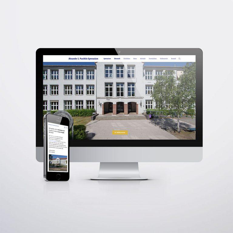 Alexander S. Puschkin Gymnasium Hennigsdorf Website