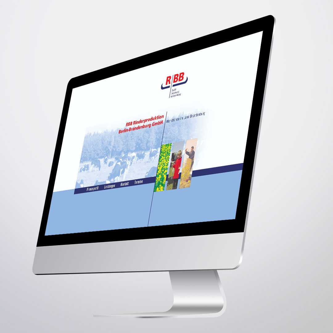 RBB Rinderproduktion Corporate Design Web