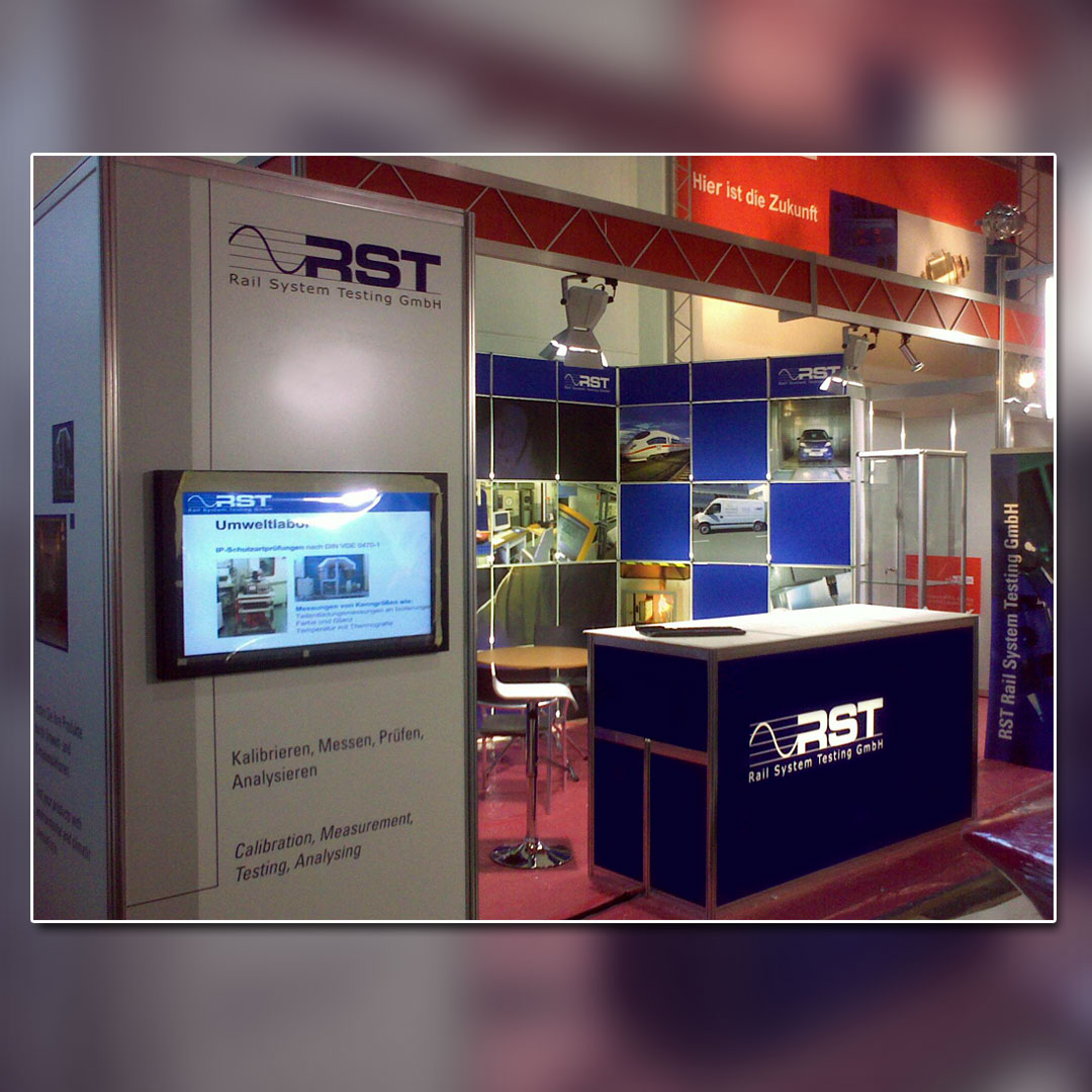 RST Messestand Innotrans