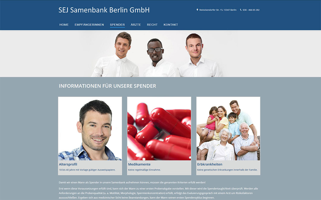 SEJ Samenbank Berlin Website