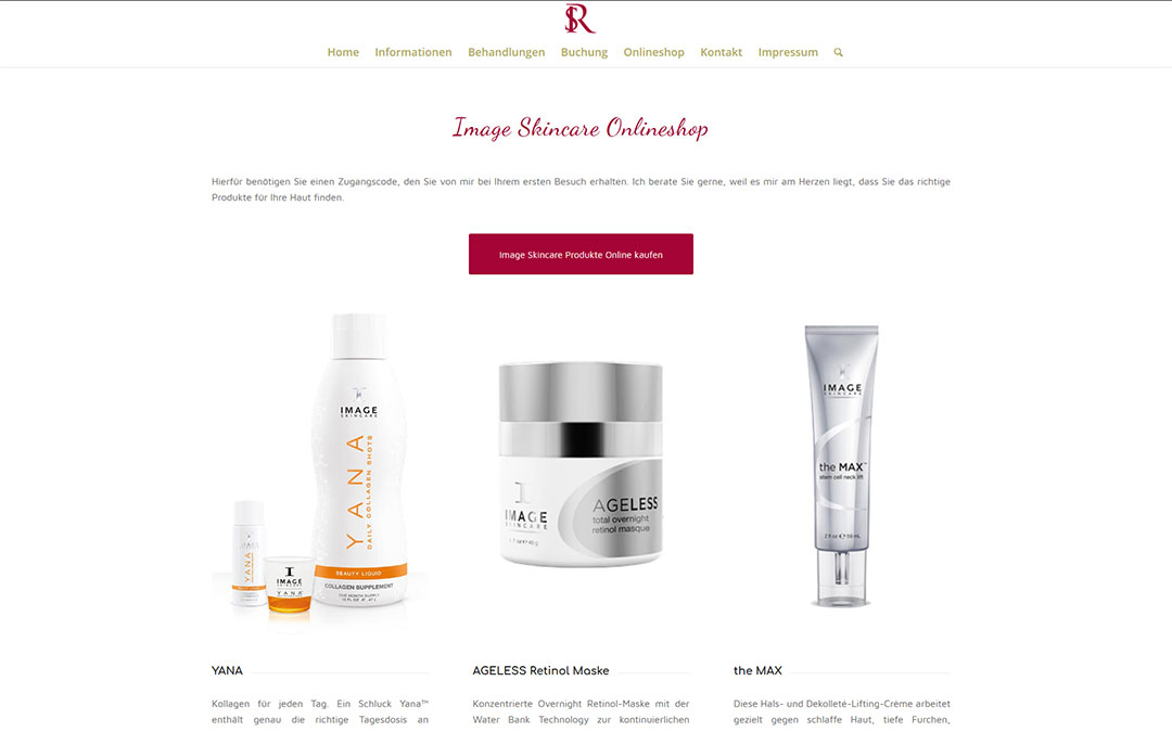 SR Kosmetik Website Online-Shop