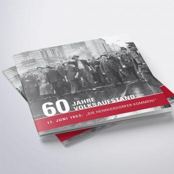 Stadtverwaltung Hennigsdorf - Broschüre und Ausstellung 60 Jahre Volksaufstand