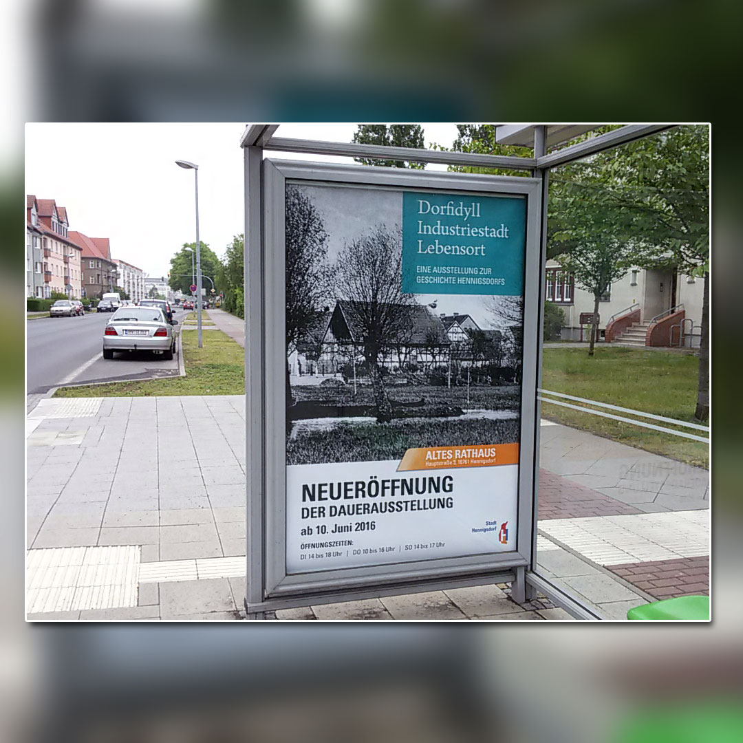 SV Hennigsdorf Dorfidyll City Light Plakat