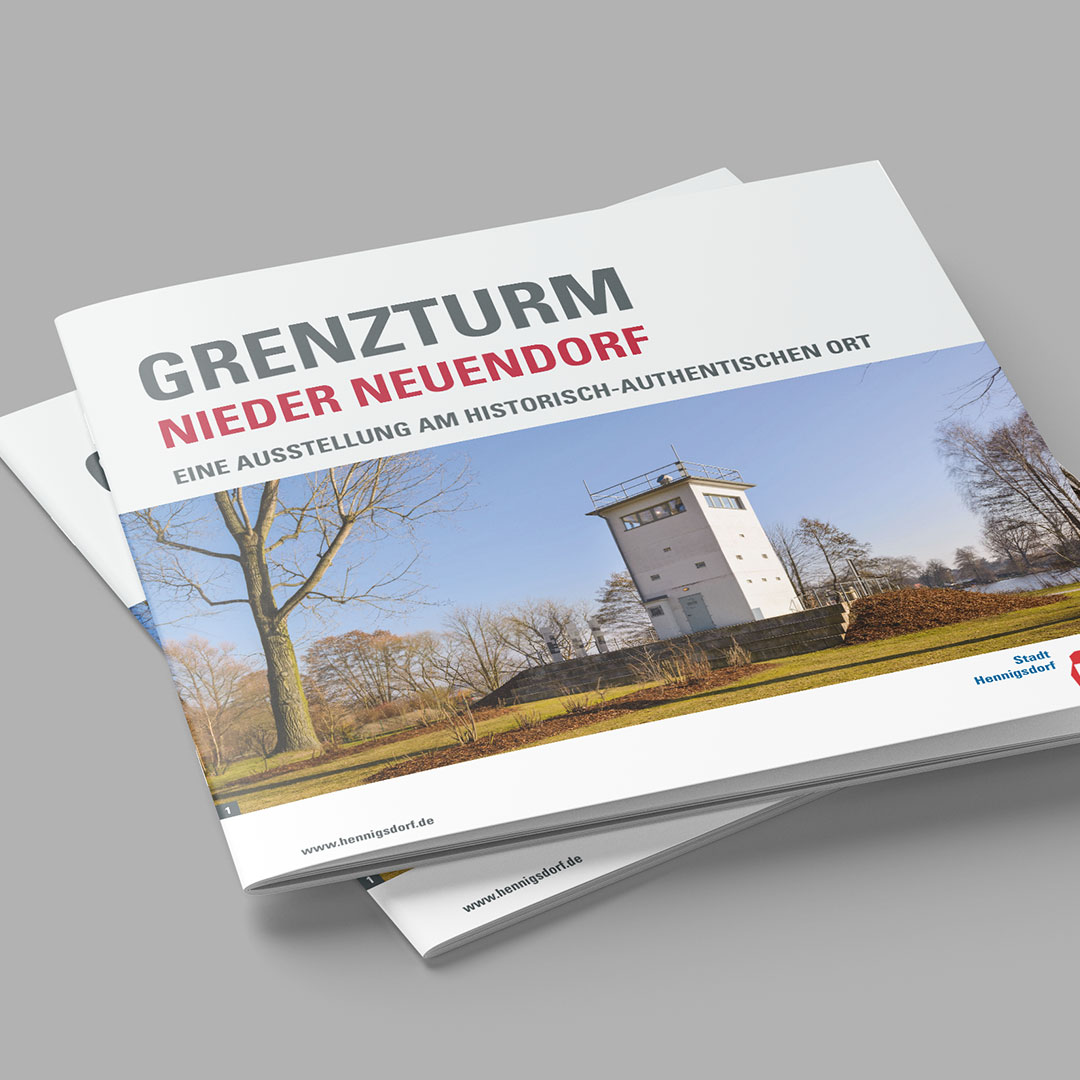 Stadtverwaltung Hennigsdorf Broschüre Grenzturm
