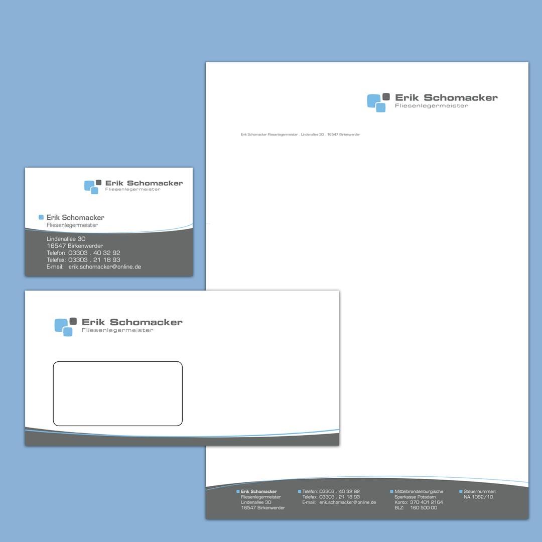 Schomacker Corporate Design Geschäftsausstattung