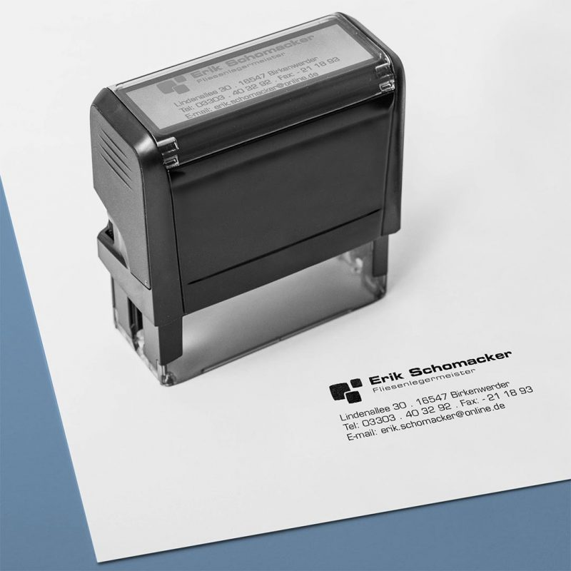 Schomacker Corporate Design Stempel