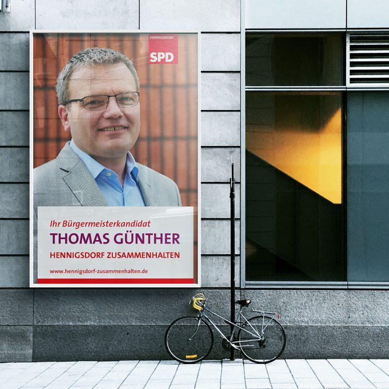 Thomas Günther Bürgermeisterkanditat Wahlkampagne