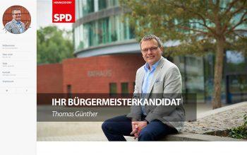 Thomas Günther Bürgermeisterkanditat Wahlkampagne Website