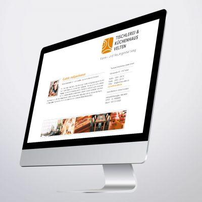 Tischlerei Velten Corporate Design Webvisitenkarte