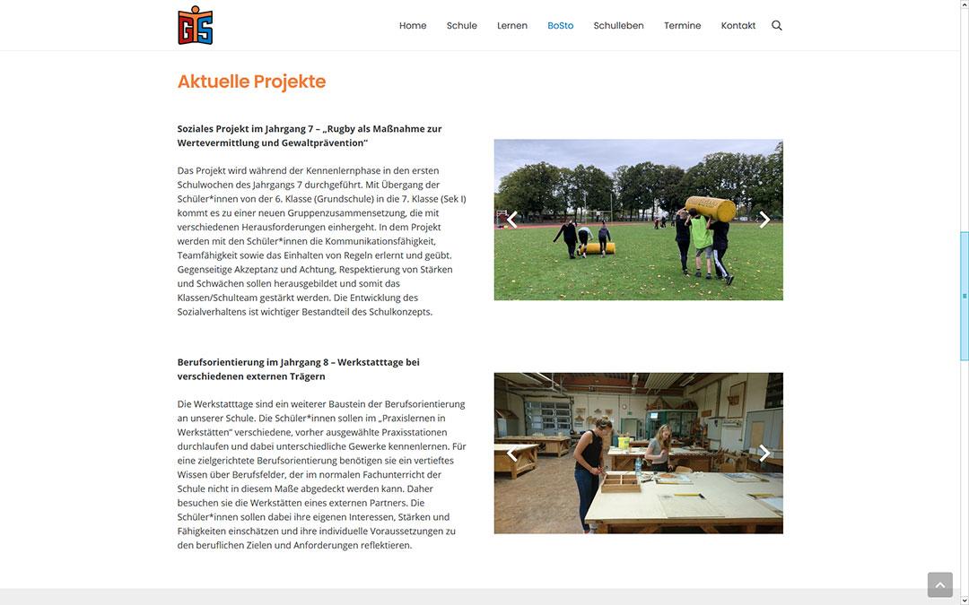 Torhorst-Gesamtschule-Oranienburg Website