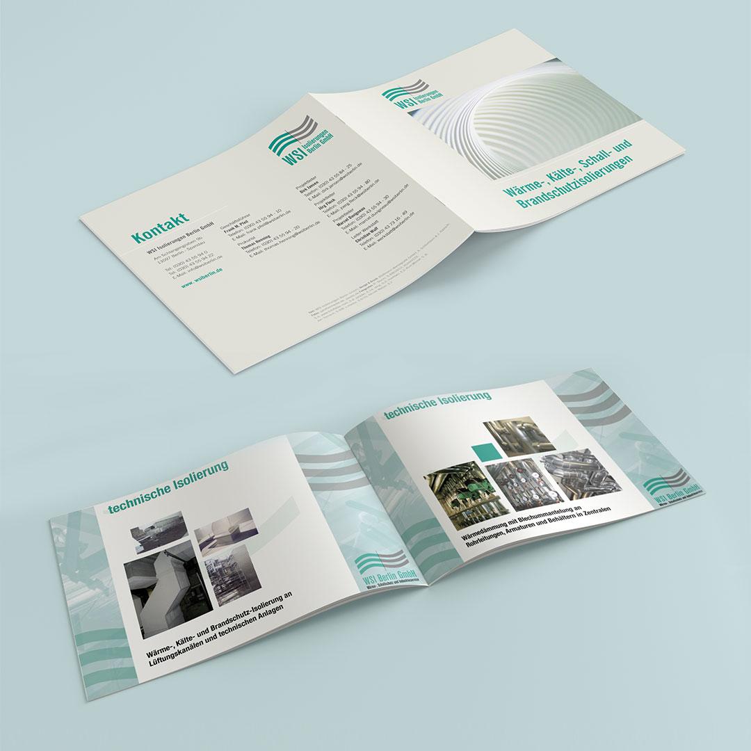 WSI Berlin Corporate Design Broschüren