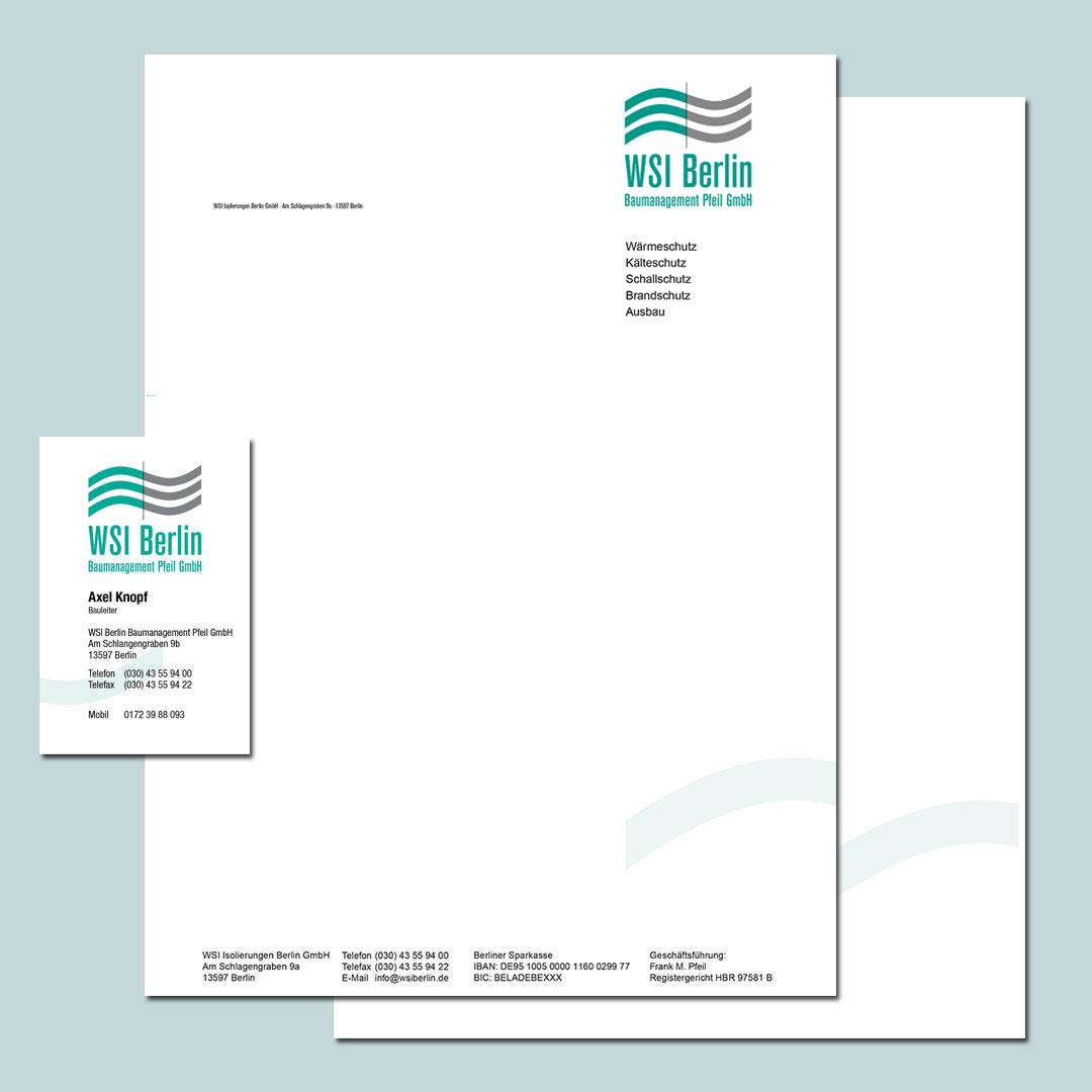 WSI Berlin Corporate Design Geschäftsausstattung