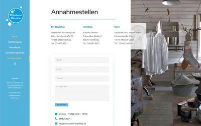 Wäscherei Waschina GbR responsive WorPress Website