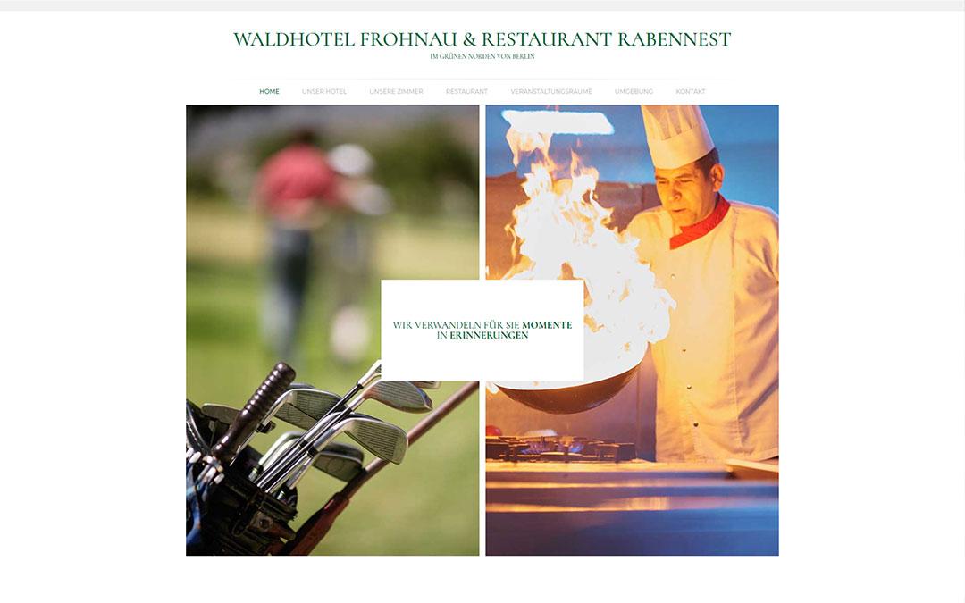 Waldhotel Frohnau Website