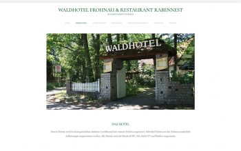 Waldhotel Frohnau Website